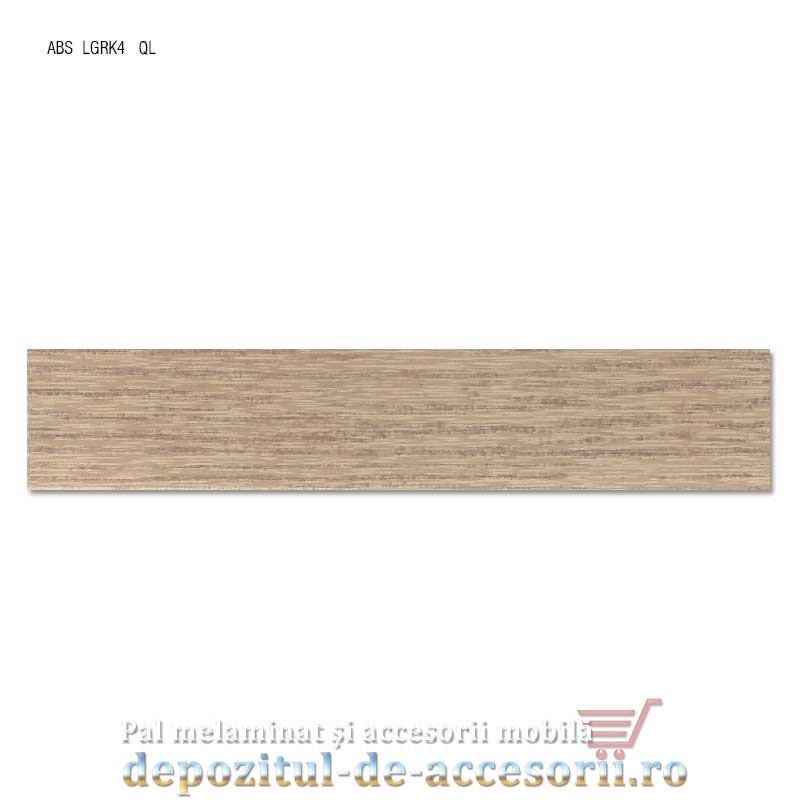 Cant ABS Stejar Bardolino gri 22mm x 0,4mm. Compatibil cu PAL Stejar Bardolino gri H1146 ST10 Egger