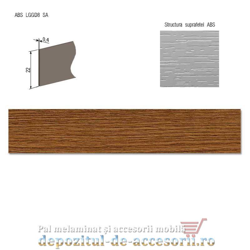Cant ABS Stejar rustic 22mm x 0,4mm Compatibil cu PAL Melaminat Stejar rustic H3387 Egger
