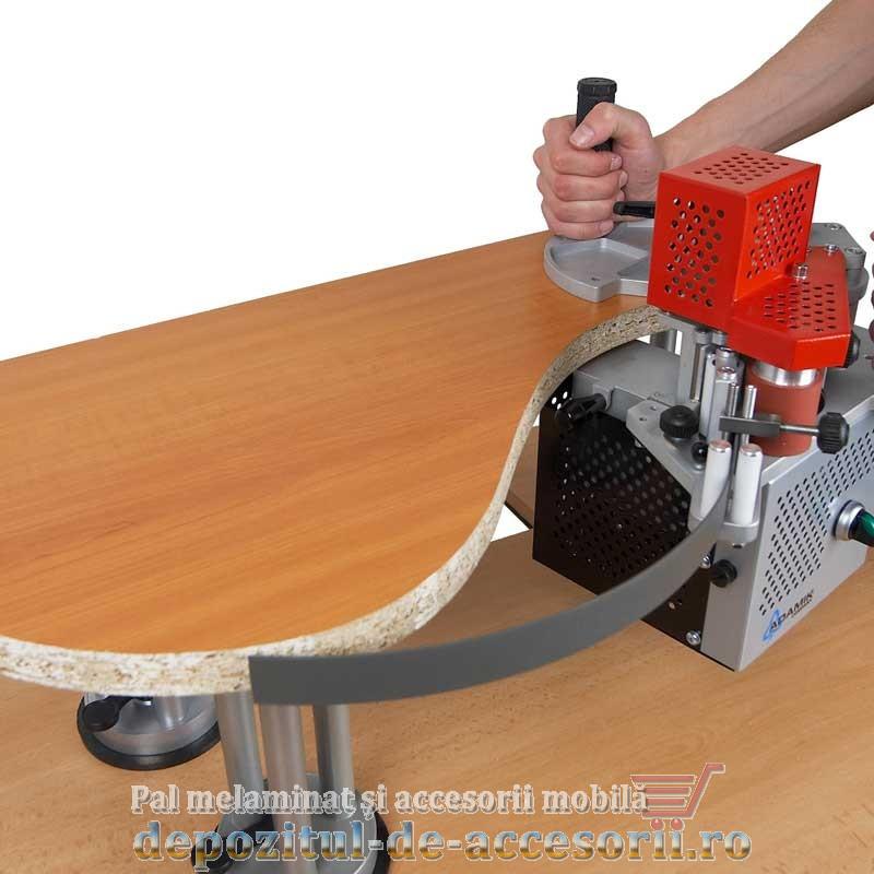 Aplicare cant ABS 22mm laturi curbate (pe rotund)