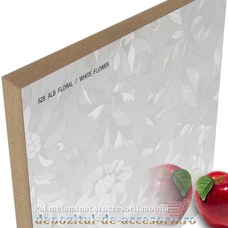 Panou MDF Alb floral 628 super lucios AGT high gloss