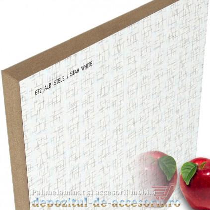 Panou MDF Alb stele 672 super lucios AGT high gloss