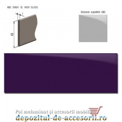 Cant ABS Violet 43mm x 1mm super lucios (high gloss)