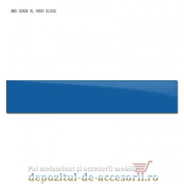 Cant ABS Albastru 22mm x 1mm super lucios (high gloss)