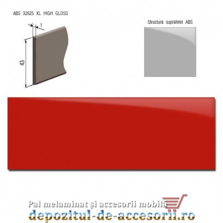 Cant ABS Rosu 43mm x 1mm super lucios (high gloss)