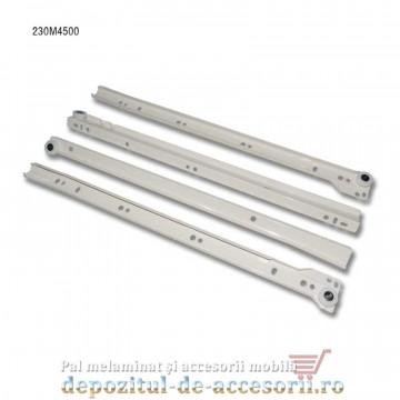 Glisiere cu role 450mm albe extragere parțială Blum 230M4500