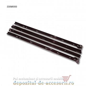 Glisiere cu role 600mm maro extragere parțială Blum 230M6000