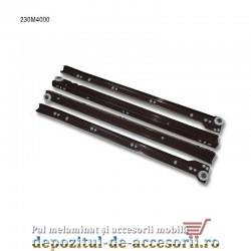 Glisiere cu role 400mm maro extragere parțială Blum 230M4000