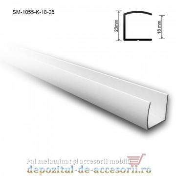 "Profil ""U"" aluminiu 18mm lungimea 2,5m SM 1055 K"