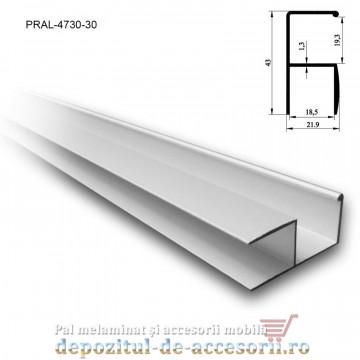 Profil Y mâner vertical aluminiu, 18mm lungimea 3ml