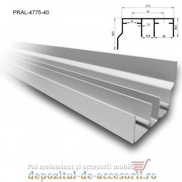 Șină dublă cu acoperire SKM80 AY 4m aluminiu