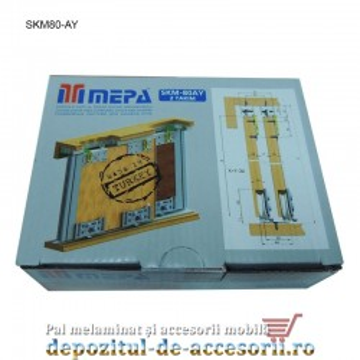 Sistem glisare SKM80 AY pentru usi culisante dressing