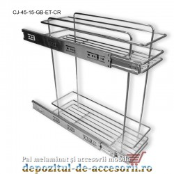Cos Jolly 150mm x 450mm cromat glisiere cu bile extragere totala Studio Cucina