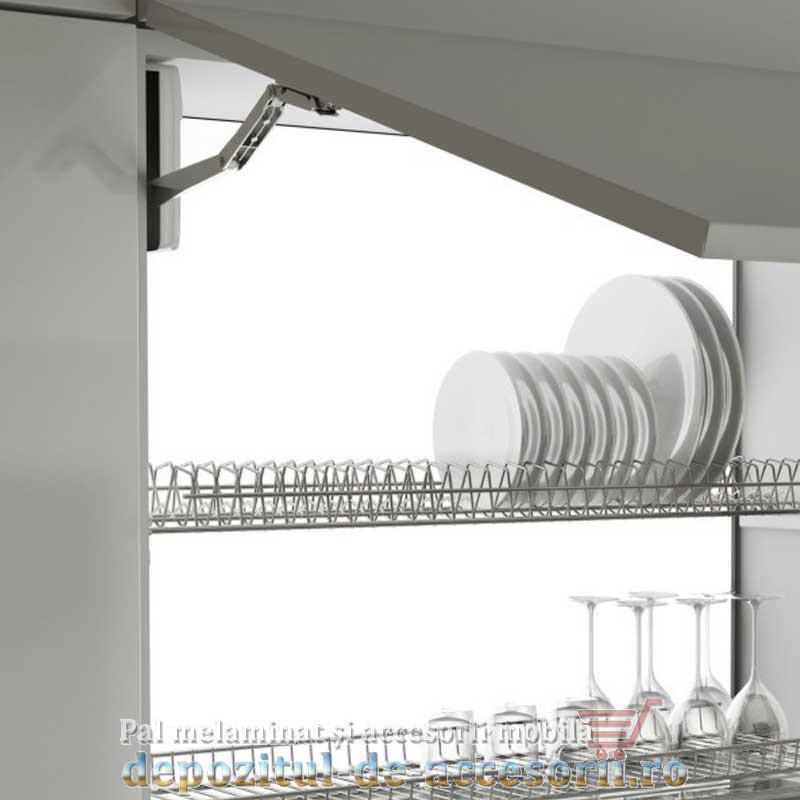 Picurător Scurgător vase cu ramă AL 900mm gri-montat