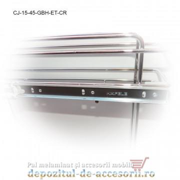 Cos Jolly 150mm x 450mm cromat glisiere cu bile Hafele extragere totala Studio Cucina
