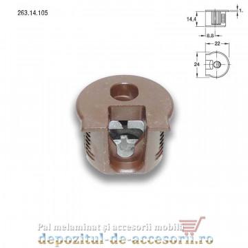 Demontabili Rafix încastrați Ø20mm plastic maro Hafele 263.14.105