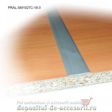 Profil H aluminiu pentru imbinare PAL de 18mm lungimea 3m SM1027C