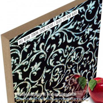 Panou MDF Negru iederă H61 super lucios Isik Siyah sarmasik high gloss