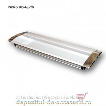 Maner mobilier ingropat Aluminiu capete cromate M6078-160-AL-CR distanta intre gauri de 160mm