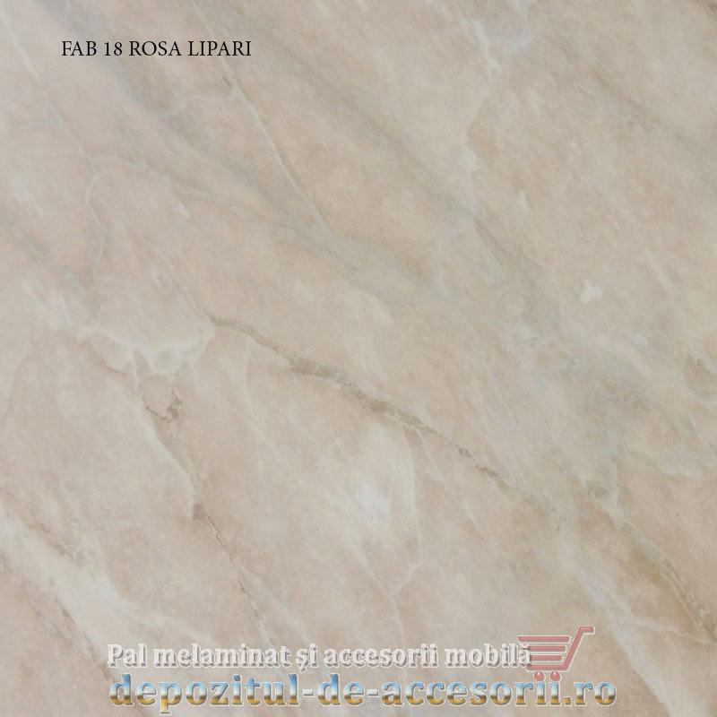 Blat de bucatarie lucios ROSA LIPARI dimensiuni 38x600x4200mm FAB 18 FAB Grup