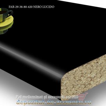 Blat de bucătărie lucios NERO LUCIDO 38x800x4200mm FAB Grup