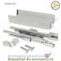 Sertar laterale metalice 400x83mm tip Tandembox extragere totală amortizare DTC