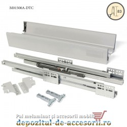 Sertar laterale metalice 500x83mm tip Tandembox extragere totală amortizare DTC