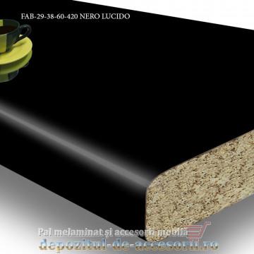 Blat de bucătărie NERO LUCIDO 38x600x4200mm FALCO