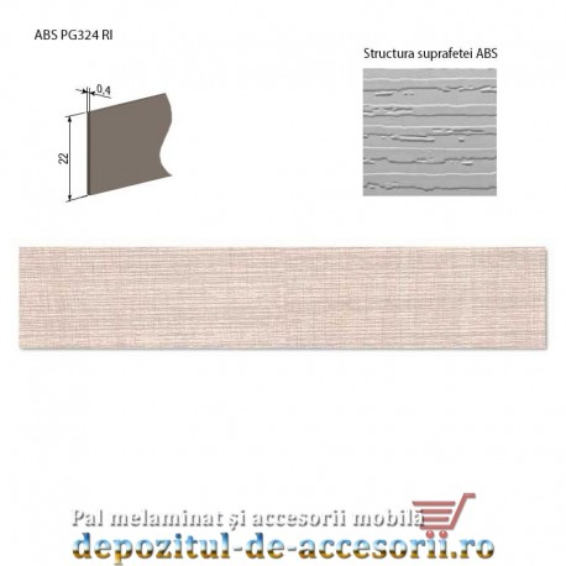 Cant ABS Stejar Perrier deschis 22mm x 0,4mm pentru A829 Kastamonu