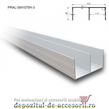 Șină dublă superioară SKM250 3m aluminiu
