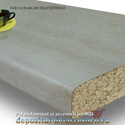 Blat de bucatarie mat TRAVERTINNO 38x600x4200mm FAB 14 FAB Grup