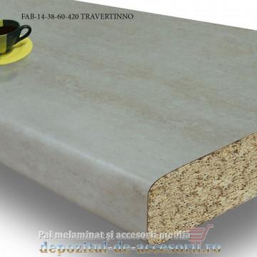 Blat de bucatarie mat TRAVERTINNO 38x600x4200mm FAB 14 FAB Grup