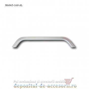Mâner mobilier Aluminiu M6065 160mm Satinat