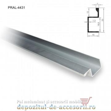 Profil U cu buza aluminiu maner vertical lungimea 2,5m 4431
