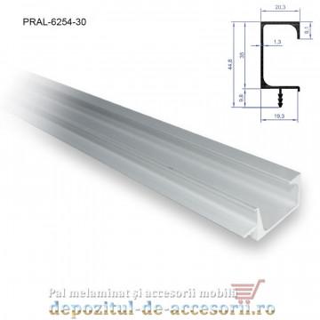 Profil maner G cu bradut, aluminiu, lungimea 3m 6254