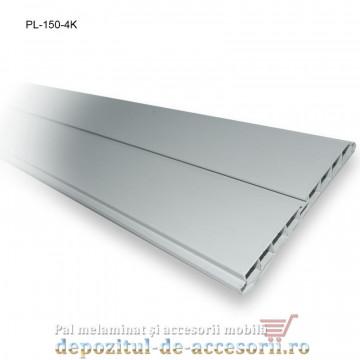 Plinta 150mm aluminiu periat, lungime 4m, Kapsan