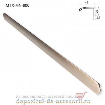 Mâner mobilier MTX-MN-600, INOX 600mm sampanie