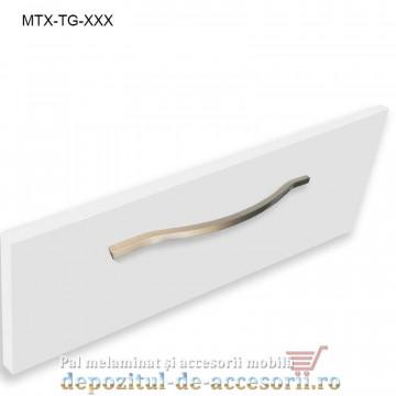 Maner mobilier MTX-TG-416, INOX 416mm, sampanie