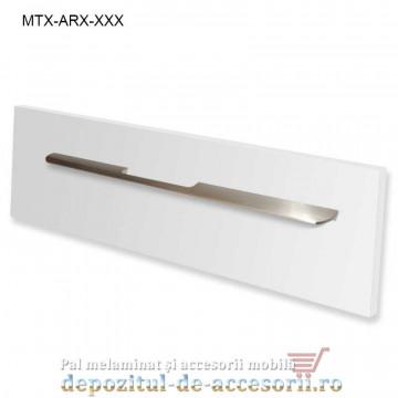 Maner mobilier MTX-ARX-352, INOX 352mm, sampanie