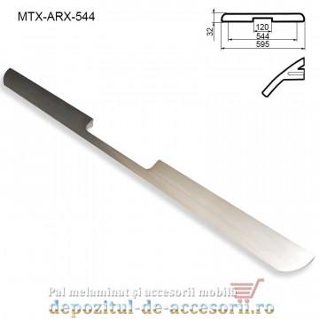Maner mobilier MTX-ARX-544, INOX 544mm sampanie