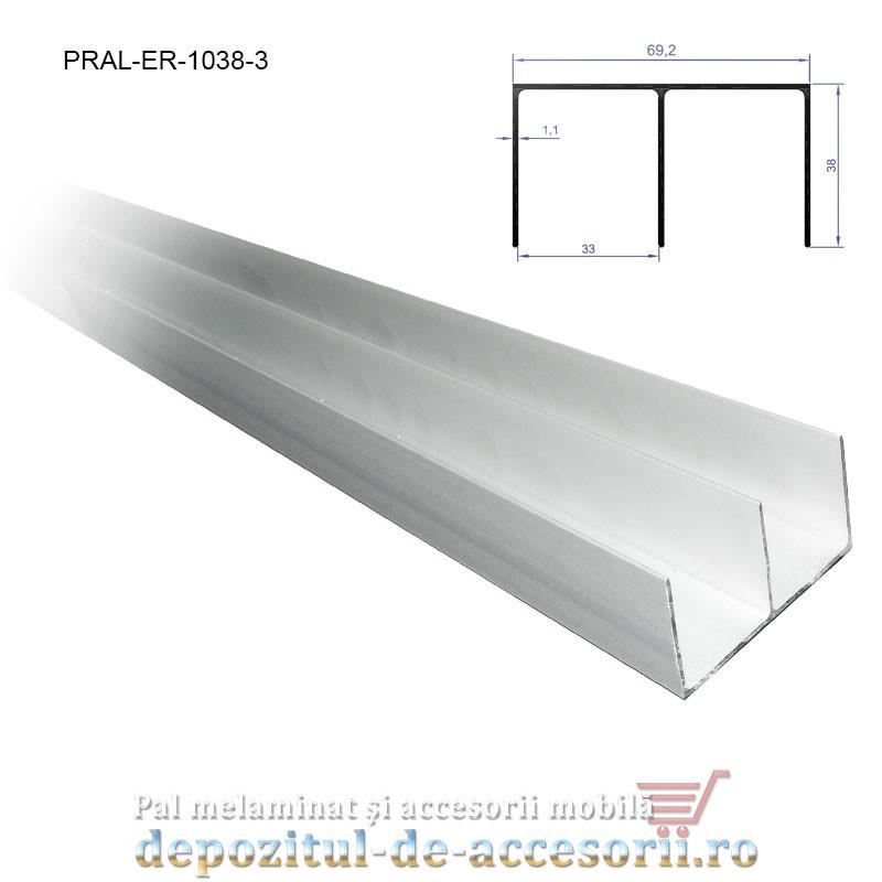 Sina dubla superioara pentru PKM70 lungimea 3m aluminiu