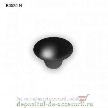 Buton ceramic negru B0530-N Ø38mm
