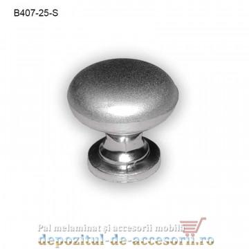 Mai multe despre Buton metalic mobilier B407-25-S Ø25mm satinat