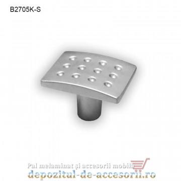 Mai multe despre Buton metalic mobilier B2705K satinat