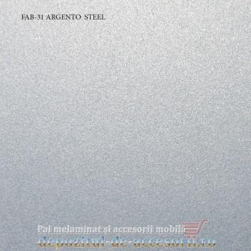 Blat de bucatarie Argento steel lucios 38x600x4200mm FAB Grup FAB 31