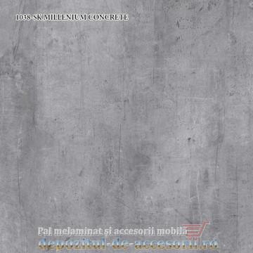 Blat bucatarie MILLENIUM CONCRETE 1038-SK 38x600x4100 Krono Swiss
