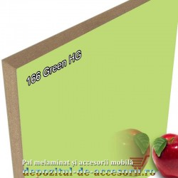 Panou MDF 166 Verde super lucios Arkopa high gloss