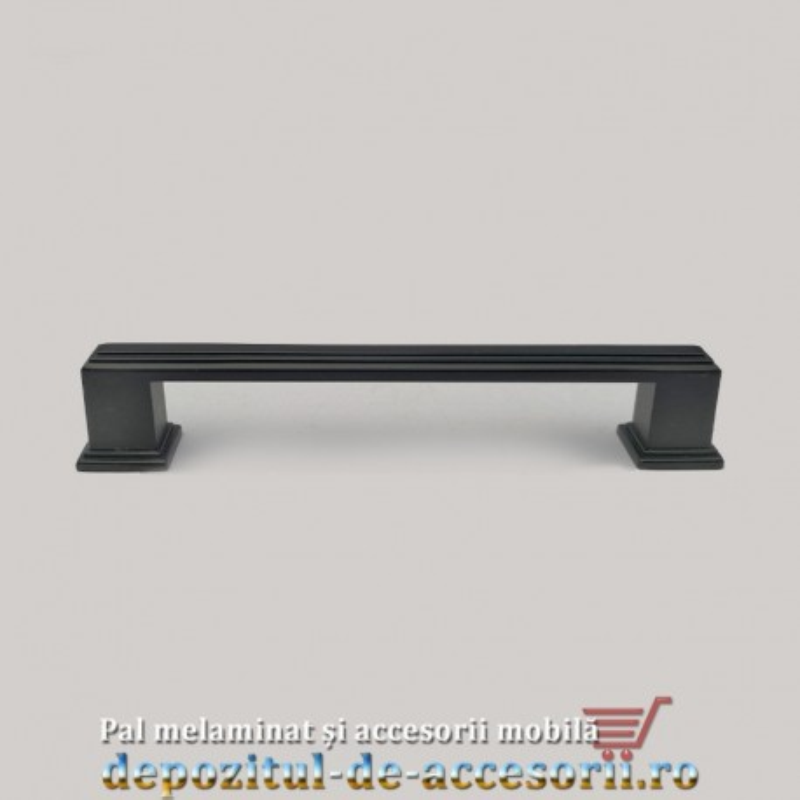 Mâner mobilier clasic B217 negru 128mm