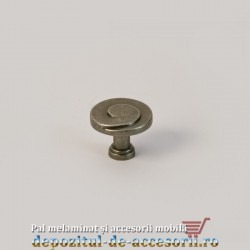 Buton mobilier 5103 antic gri
